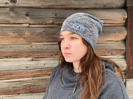 Grey and grey two tone slouchie
