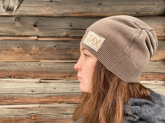 Thin faded brown slouchie