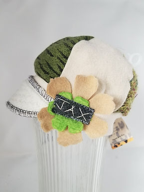 Infant green and cream