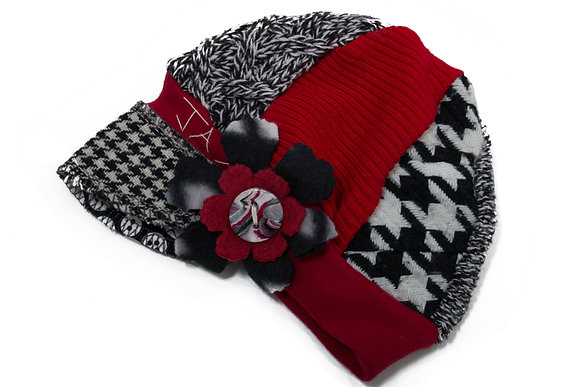 Red White & Black Knit