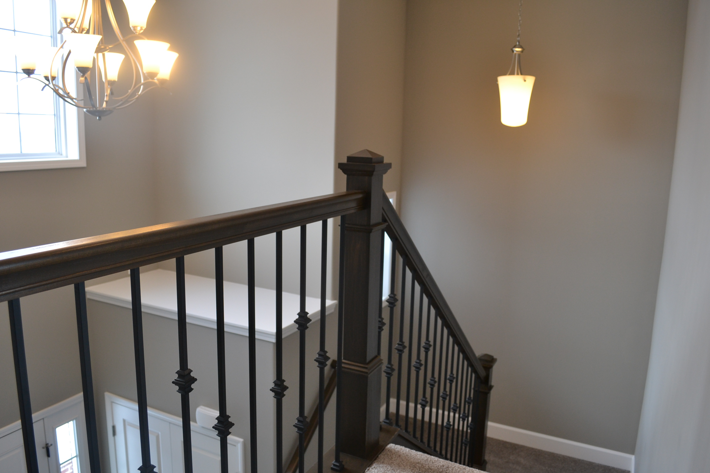 New Home in Champaign fancy stairway