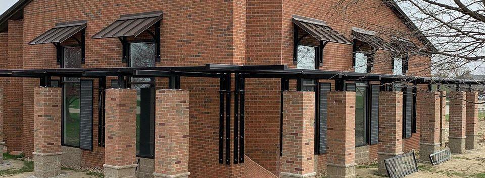 Commercial Remodel, metal awnings, metal