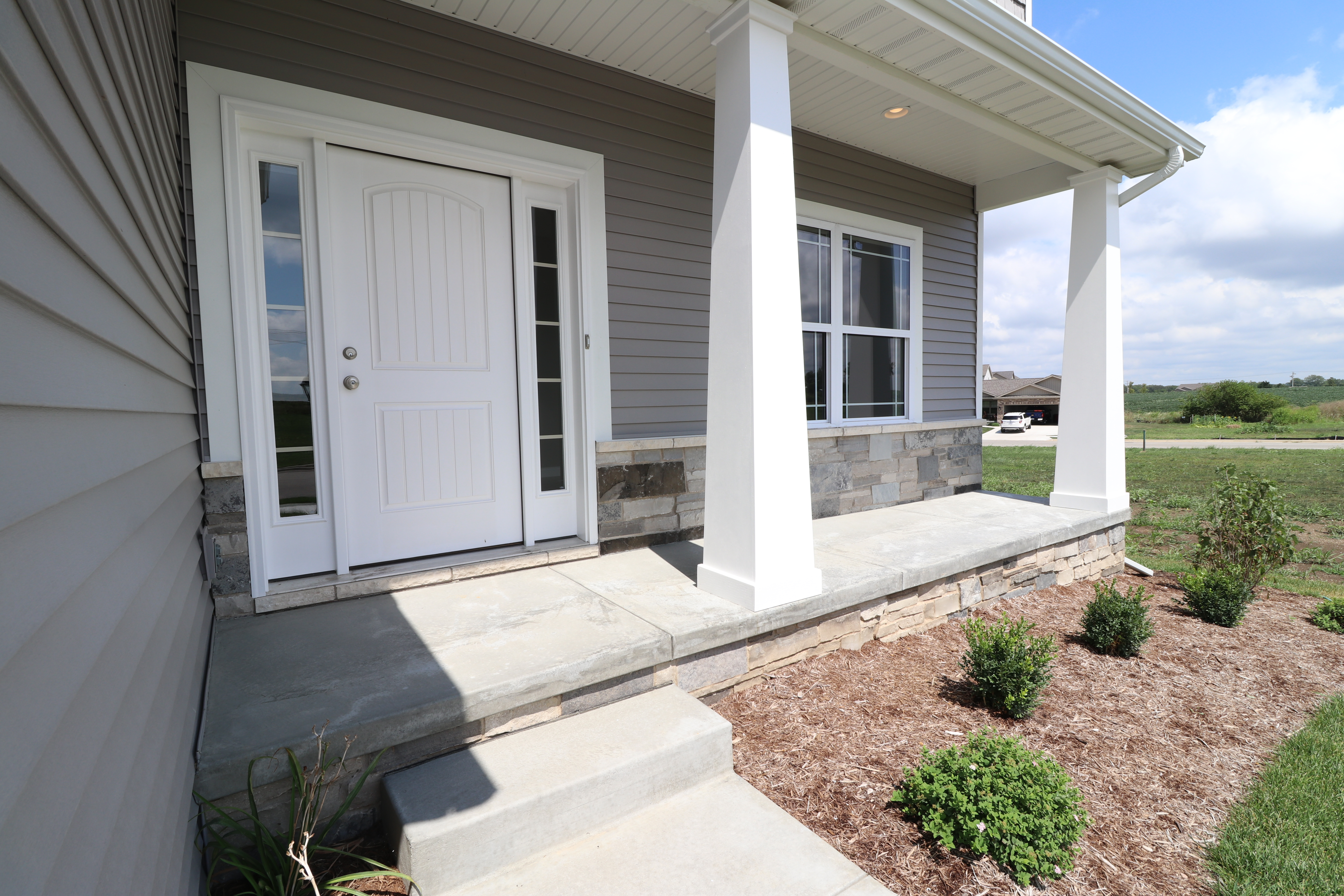 House for sale in the Dunlap peoria area front porch