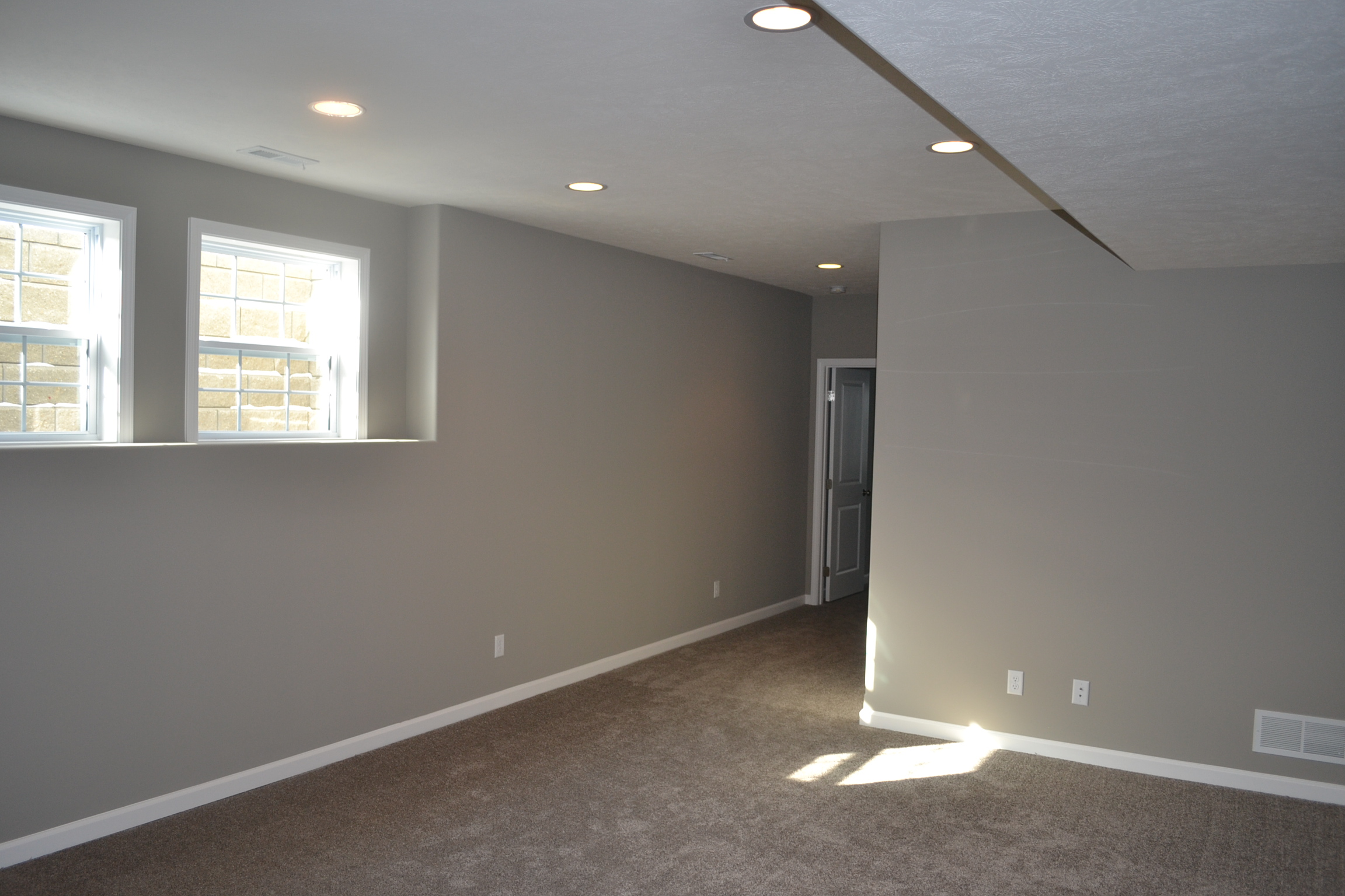 New Home in Champaign with basement windows
