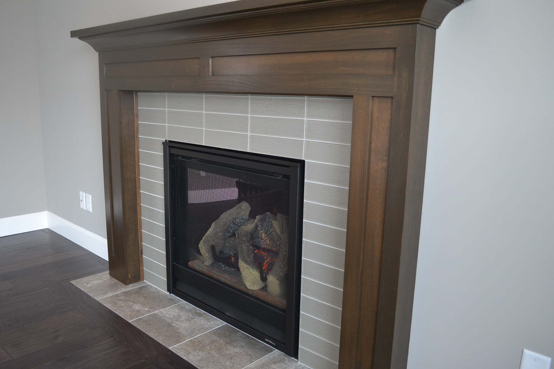 New Home in Champaign with fireplace