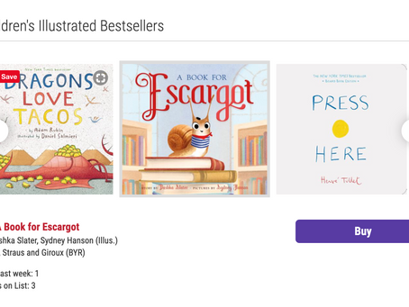 A Book for Escargot Is An Indie Bestseller!