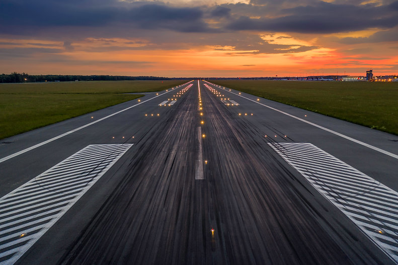 Aiplane Runway with Lights