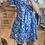 Thumbnail: Robe babydoll fleurie bleue