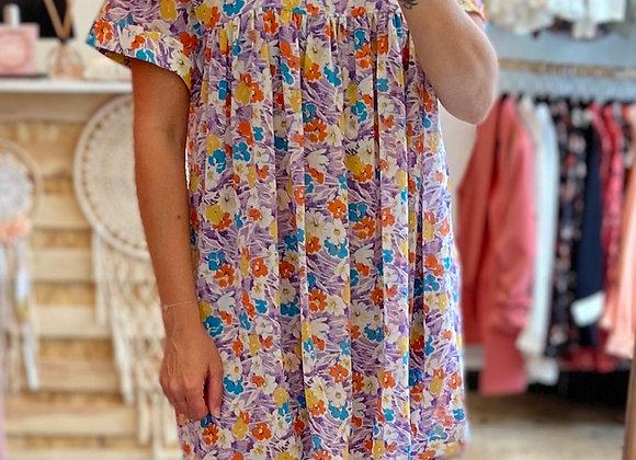 Robe-short lilas