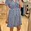 Thumbnail: Robe courte bleu fleurie