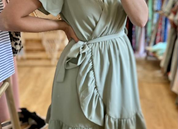 Robe vert olive