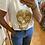 Thumbnail: T-shirt tête de mort mexicaine dorée
