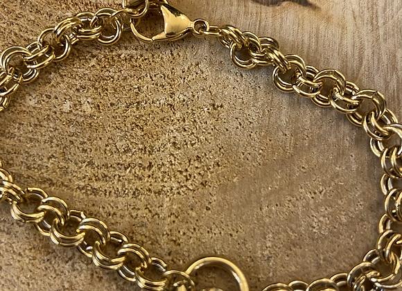 Bracelet maille dorée