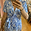 Thumbnail: Robe longue motif feuillage