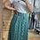 Thumbnail: Jupe longue verte à fleurs
