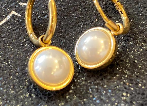 Créoles perles d'eau douce