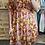 Thumbnail: Robe cache-coeur fleurie orange