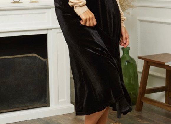 Jupe velours noire