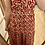 Thumbnail: Robe longue rouge fleurie