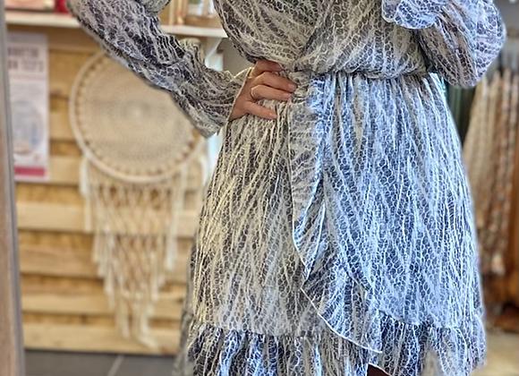 Robe courte inspi python noire