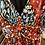 Thumbnail: Robe longue bleu et rouge