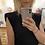 Thumbnail: Robe T-shirt noire épaulettes