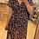 Thumbnail: Robe longue fleurie bleu marine