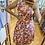 Thumbnail: Robe courte fleurie rouge