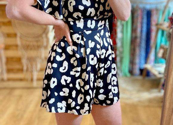 Combi-short léopard