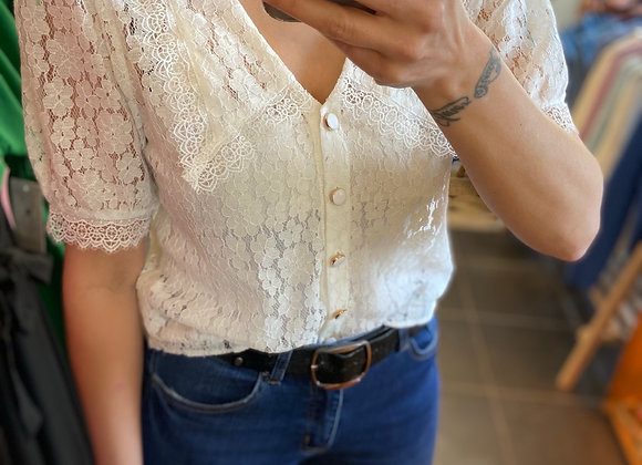 Chemise blanche dentelle