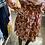 Thumbnail: Robe rouille imprimé feuilles
