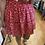 Thumbnail: Jupe courte fleurie rouge