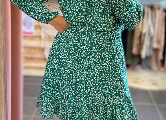 Robe fleurie verte