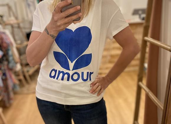 T-shirt AMOUR bleu roi