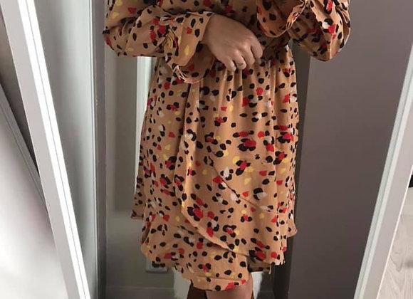 Robe cache-coeur léopard