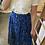 Thumbnail: Jupe longue fleurie bleu roi
