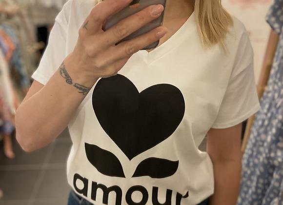 T-shirt blanc AMOUR