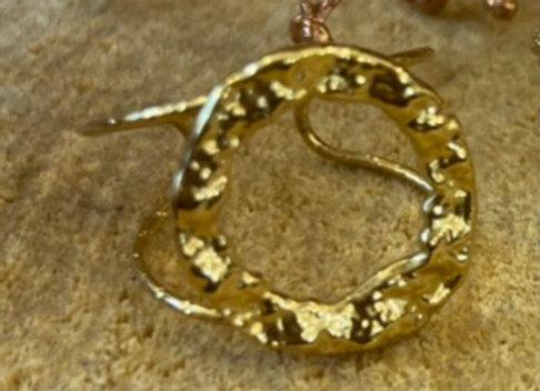 Bague cercle dorée