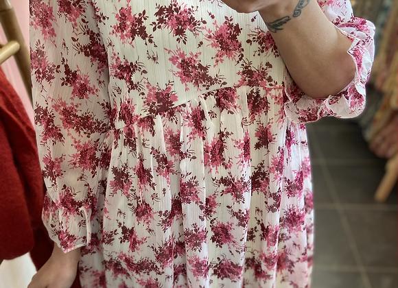 Robe ample fleurie