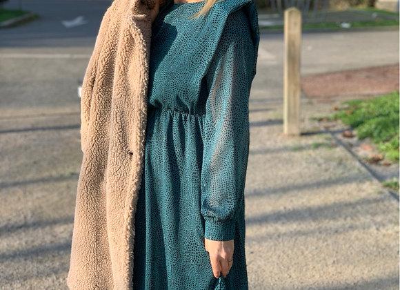 Robe avec épaulettes
