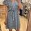 Thumbnail: Robe courte bleue fleurie