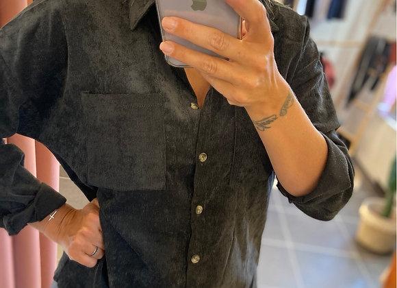 Chemise noire en velours