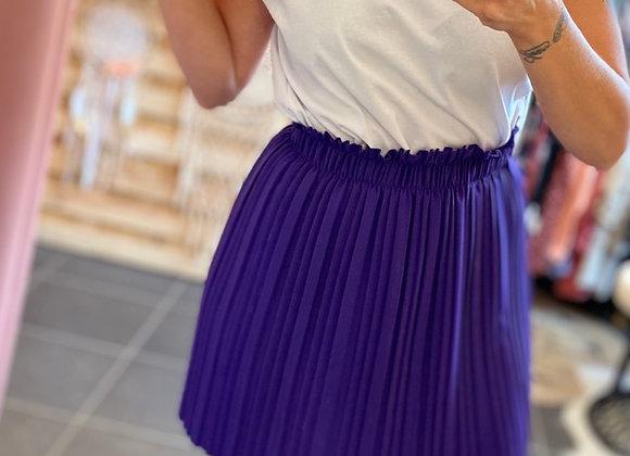 Jupe plissée purple