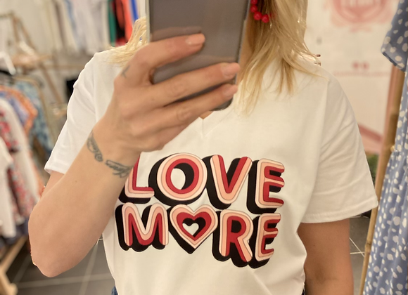 T-shirt blanc LOVE MORE