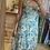 Thumbnail: Robe à bretelles fleurie vert et jaune