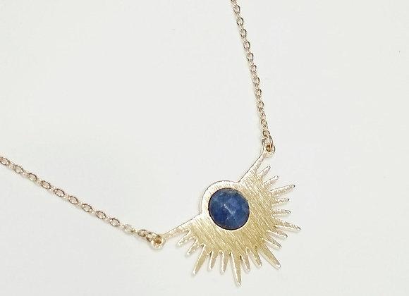 Collier bleu marine