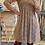 Thumbnail: Robe courte fleurie bleue et orange