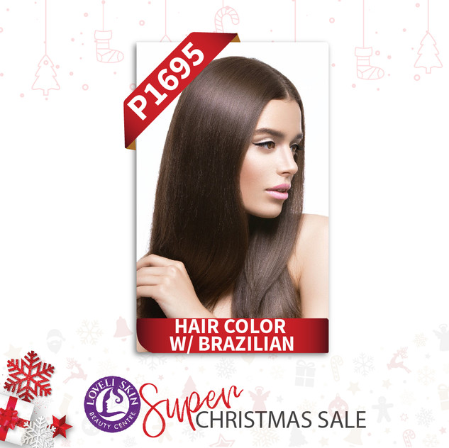 Hair color with brazilian treatment