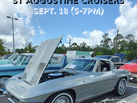 Cruise In-St Augustine Cruisers Saturday September 18th (5-7pm)