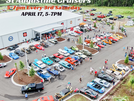 Cruise In-St Augustine Cruisers Saturday April 17th (5-7pm)